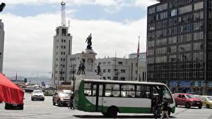 Фотография Дома Автобус Чили Вальпараисо Улица Города