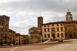 Обои Италия Дома Тоскана Улица Города фото