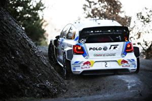 Обои для рабочего стола Фольксваген Тюнинг Вид сзади Ралли Polo WRC Автомобили