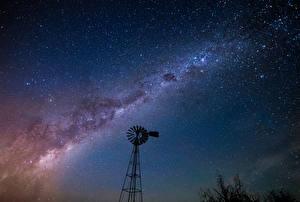 Обои Небо Звезды Млечный Путь Ночные Космос
