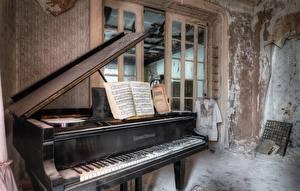 Фото Фортепиано Комнаты Старые
