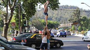 Обои Гимнастика Чили Вальпараисо Улица Города фото