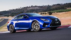 Картинки Lexus Синий Сбоку 2014 RC F AU-spec Авто