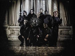 Картинка Slipknot Nu-Metal, Shawn Crahan, Craig Jones, Mick Thomson, Corey Taylor, Sid Wilson, Chris Fehn, Jim Root