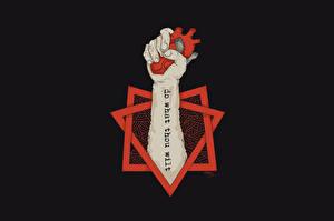 Фото Логотип эмблема Сердце Руки Oxxxymiron Danko Aleister Crowley Музыка