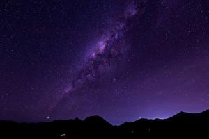 Обои Звезды Небо Млечный Путь Ночные Космос