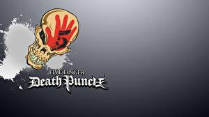 Картинки Черепа Логотип эмблема five finger death punch fice 5 FFDP