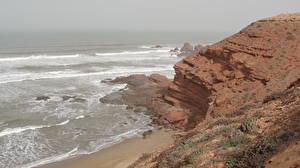 Обои Море Побережье Марокко Скала Природа