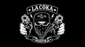 Обои Пистолеты Логотип эмблема La Coka Nostra hip-hop