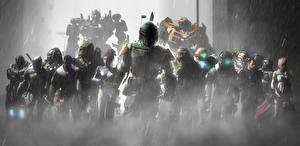 Картинки Star Wars Воители Солдаты Трансформеры Дождь Броня Робот Фантастика Игры