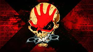 Картинка Черепа Логотип эмблема Groove metal Five Finger Death Punch 5 Finger Death Punch