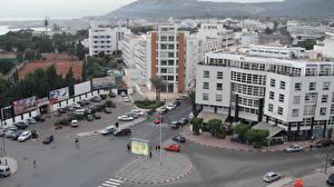 Фото Здания Марокко Дороги Улиц Agadir Города
