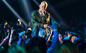 Картинка Eminem Мужчины Концерт Музыка Знаменитости