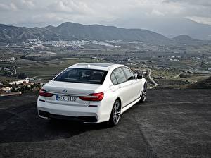 Обои БМВ Гора Сзади Белых BMW 7 G11 / G12 Автомобили