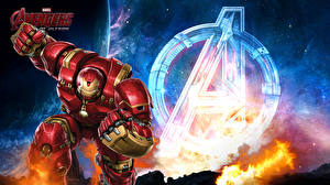 Фотография Мстители: Эра Альтрона Железный человек герой Герои комиксов Hulkbuster Armor Marvel Comics Tony Stark Кино Фэнтези