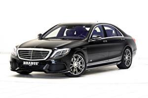 Фотографии Mercedes-Benz Тюнинг Brabus Черный Металлик Гибридный автомобиль 2015 Brabus PowerXtra B50 Hybrid (based on Mercedes-Benz S500 Plug-In Hybrid) Автомобили