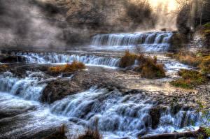 Обои Водопады HDR Природа фото