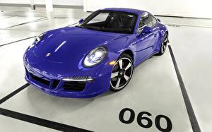 Картинка Порше Фиолетовые Металлик Фар 2015 911 GTS Club Coupe машины