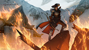 Картинка Лучники Огонь Dragon Age Inquisition chaos Игры Фэнтези