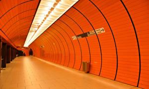 Картинки Германия Мюнхен Тоннель Rapid transit город