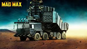 Картинки Безумный Макс: Дорога ярости Пустыни Небо Грузовики кино