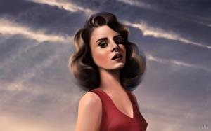 Обои Lana Del Rey Рисованные Знаменитости Девушки