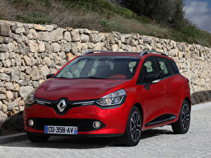 Фотографии Renault Красный Спереди Clio Estate