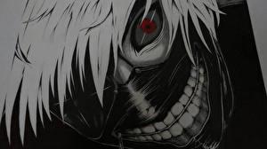 Фотографии Маски Tokyo Ghoul Парни Смотрит Волосы Kaneki Ken Аниме