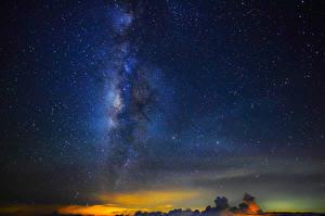 Фото Млечный Путь Звезды Небо Ночные Космос