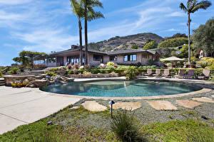 Фотография Штаты Дома Вилла Плавательный бассейн Пальмы Laguna Beach