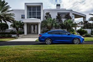 Фотография Chrysler Здания Голубой Сбоку Газон Особняк 2015 200 S авто Города