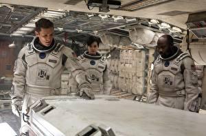 Картинки Anne Hathaway Мэттью МакКонахи Мужчины Астронавт Интерстеллар Негр кино Знаменитости