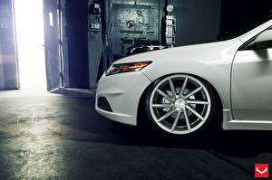 Обои Honda Белый Колесо Vossen Авто
