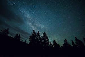 Картинка Млечный Путь Звезды Небо Ночь Космос