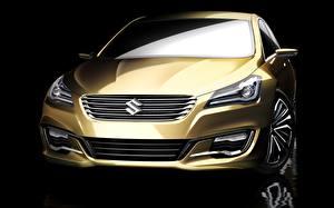 Фотографии Сузуки Золотая Спереди Фары Authentics Concept машина