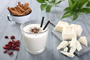 Картинки Коктейль Крупным планом Корица Напитки Шоколад Стакан Продукты питания