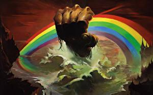 Фотографии Волны Море Руки Радуга Hard Rock Heavy Metal 1976 Richard Hugh Ritchie Blackmore Ronnie Ronald James Dio Padavona Ken Kelly Музыка