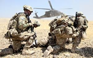 Обои Солдаты Вертолет Десантники Армия