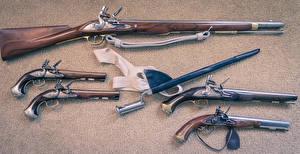 Обои Пистолеты Ретро Ружьё Армия фото