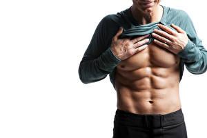 Фото Мужчины Бодибилдинг Живот Руки Мускулы model muscles