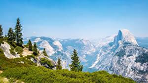 Обои Америка Парк Пейзаж Гора Йосемити Ель Природа