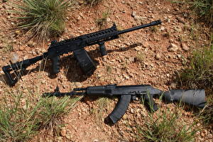 Обои Ружьё Автомат 2 Saiga-12 Армия