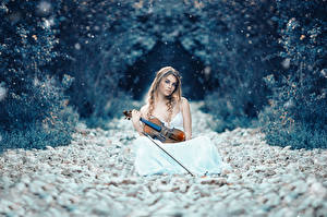 Фотографии Скрипки Камни Symphony of life, Alessandro Di Cicco Девушки