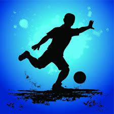 Картинка Футбол Мячик Силуэт спортивная