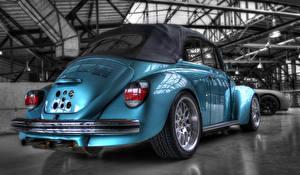 Картинка Volkswagen Голубой HDRI power beetle машина