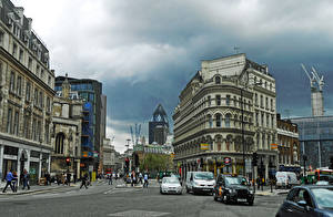 Обои Англия Здания Лондоне Улица