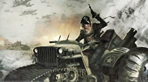 Фотография Война Рисованные Солдаты Lamin Martin Армия Девушки