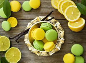 Обои Печенье Лимоны Вблизи Макарон