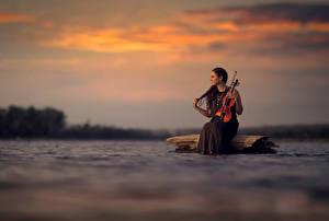 Картинки Скрипки Silence Девушки