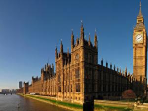 Обои Великобритания Здания Лондон Биг-Бен Parliament Города